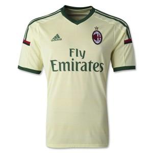 Camiseta nueva AC Milan Tailandia Tercera 2014/2015