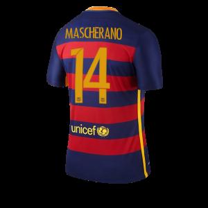 Camiseta nueva Barcelona Numero 14 MASCHE Equipacion Primera 2015/2016