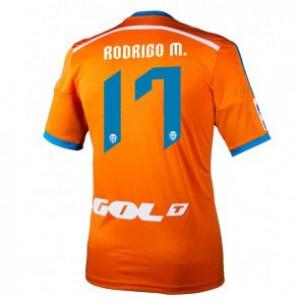Camiseta Valencia Rodrigo Segunda Equipacion 2014/2015