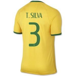 Camiseta Brasil de la Seleccion T.Silva Primera WC2014