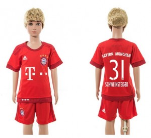 Camiseta de Bayern Munich 2015/2016 Home 31 Niños