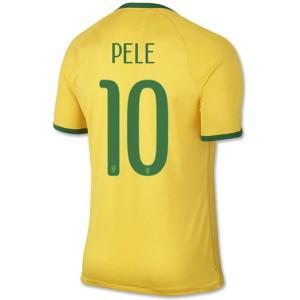 Camiseta nueva del Brasil de la Seleccion WC2014 Pele Primera