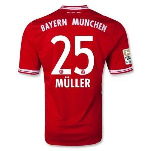 Camiseta de Bayern Munich 2013/2014 Primera Muller Equipacion