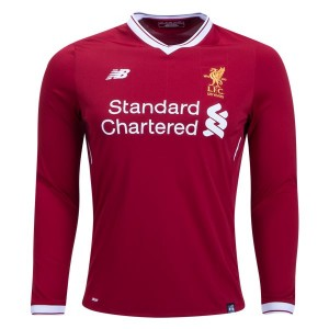 Camiseta Liverpool Home Long Sleeve 2017/2018
