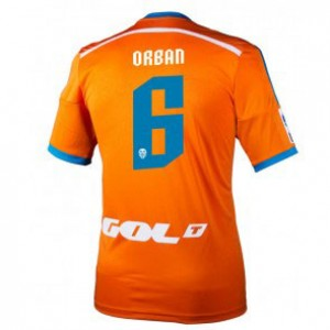 Camiseta nueva Valencia Lucas Orban Equipacion Segunda 2014/2015