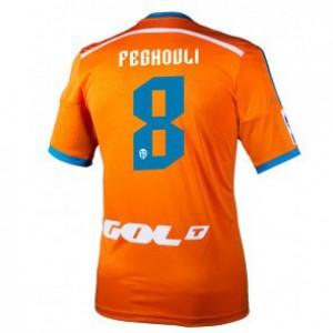 Camiseta nueva Valencia Sofiane Feghouli Equipacion Segunda 2014/2015