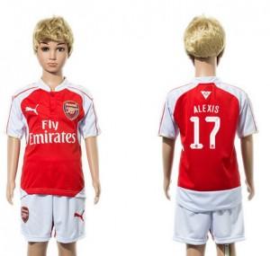 Camiseta nueva Arsenal Niños UEFA 17 Home 2015/2016