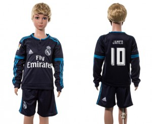 Camiseta de Real Madrid 2015/2016 10# Manga Larga Niños