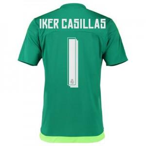 Camiseta del Numero 01 CASI Real Madrid Segunda Equipacion 2015/2016