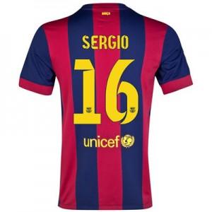 Camiseta nueva del Barcelona 2014/2015 Equipacion Sergio Primera
