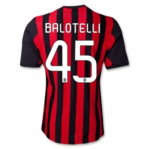 Camiseta de AC Milan 2013/2014 Primera Balotelli Equipacion