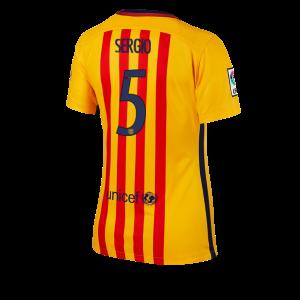 Camiseta Barcelona Numero 05 Segunda Equipacion 2015/2016 Mujer