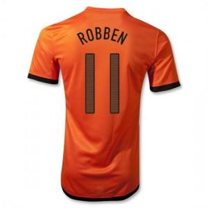Camiseta nueva del Holanda de la Seleccion 2012/2014 Robben Primera