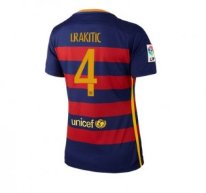 Mujer Camiseta del Numero 04 Barcelona Primera Equipacion 2015/2016