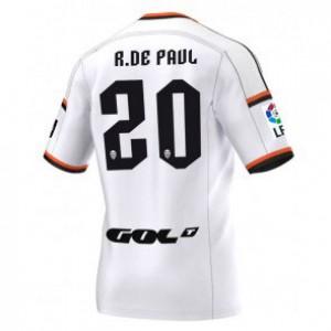 Camiseta Valencia Rodrigo Paul Primera Equipacion 2014/2015