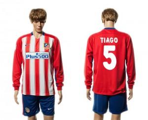 Camiseta nueva Atletico Madrid 5# Manga Larga Primera 15/16