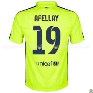 Camiseta nueva del Barcelona 2014/2015 Afellay Tercera