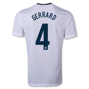 Camiseta nueva Inglaterra de la Seleccion Gerrard Primera 2013/2014