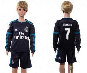 Camiseta nueva del Real Madrid 2015/2016 Manga Larga 7# Niños
