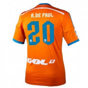 Camiseta nueva Valencia Rodrigo Paul Equipacion Segunda 2014/2015