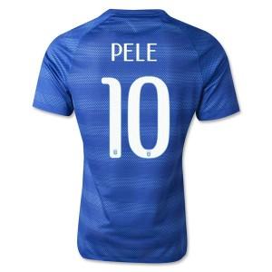 Camiseta nueva Brasil de la Seleccion Pele Segunda WC2014