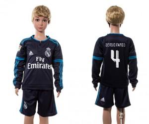 Camiseta nueva Real Madrid Niños 4# Manga Larga 2015/2016