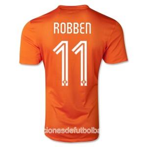 Camiseta de Holanda de la Seleccion WC2014 Primera Robben