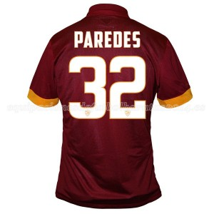 Camiseta AS Roma Paredes Primera Equipacion 2014/2015