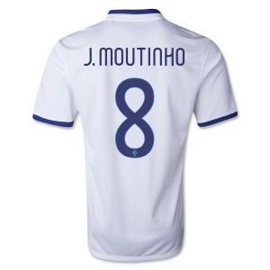Camiseta nueva Portugal de la Seleccion J Moutinho Segunda 2013/2014