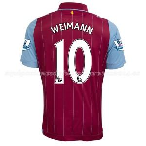 Camiseta de Aston Villa 2014/15 Primera Weimann Equipacion