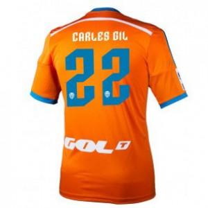 Camiseta nueva Valencia Carles Gil Equipacion Segunda 2014/2015
