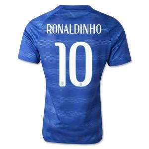 Camiseta Brasil de la Seleccion Ronaldinho Segunda WC2014