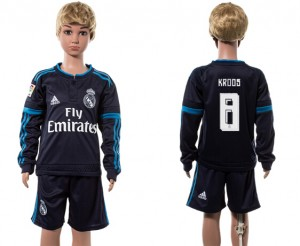 Niños Camiseta del 8# Real Madrid Manga Larga 2015/2016