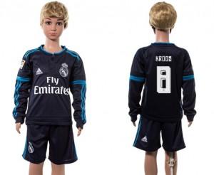Niños Camiseta del 8# Real Madrid Manga Larga 2015/2016