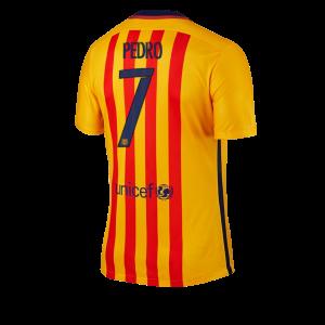 Camiseta Barcelona Numero 07 PEDRO Segunda Equipacion 2015/2016