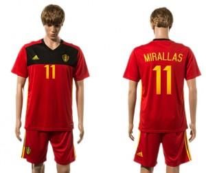 Camiseta nueva del Belgium 2015-2016 11#