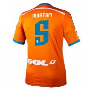 Camiseta Valencia Shkodran Mustafi Segunda Equipacion 2014/2015