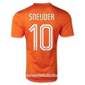 Camiseta del Sneijder Holanda de la Seleccion Primera WC2014