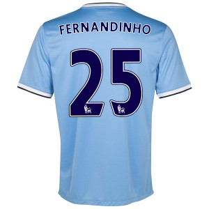 Camiseta Manchester City Fernandinho Primera 2013/2014