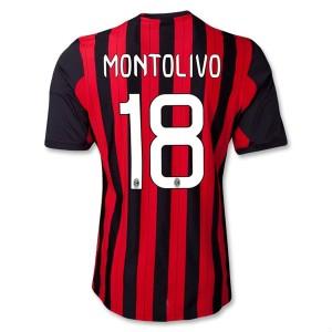 Camiseta nueva del AC Milan 2013/2014 Equipacion Montolivo Primera