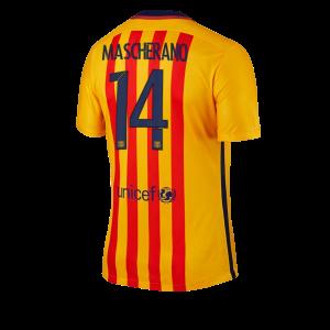 Camiseta nueva del Barcelona 2015/2016 Equipacion Numero 14 MASCHE Segunda