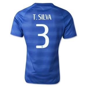 Camiseta nueva Brasil de la Seleccion T.Silva Segunda WC2014