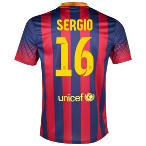 Camiseta del Sergio Barcelona Primera 2013/2014