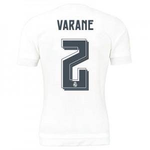 Camiseta nueva del Real Madrid 2015/2016 Equipacion Numero 02 Vara Primera