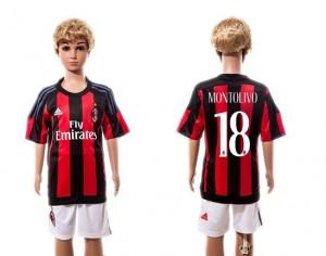 Camiseta nueva del AC Milan 2015/2016 #18 Niños Home