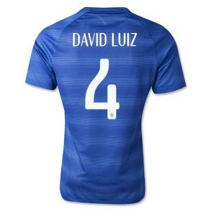 Camiseta Brasil de la Seleccion David Luiz Segunda WC2014