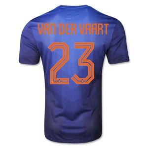 Camiseta Holanda Van Der Vaart Segunda WC2014