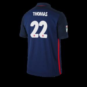 Camiseta del THOMAS Atletico Madrid Segunda Equipacion 2015/2016