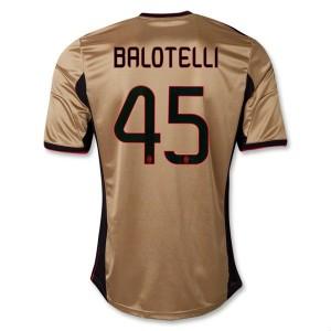 Camiseta nueva AC Milan Balotelli Equipacion Tercera 2013/2014