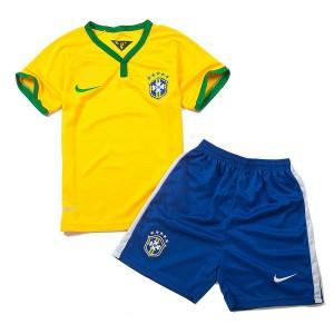 Camiseta nueva Brasil de la Seleccion Nino Primera WC2014